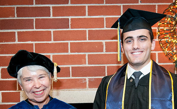 2017 Winter Commencement — Chancellor Carol Christ and History Alumnus Austin Weinstein