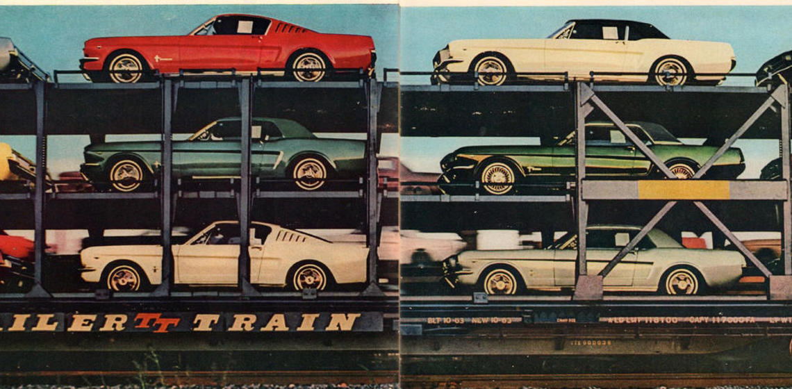 Print advertisement for Ford Mustangs, 1970s